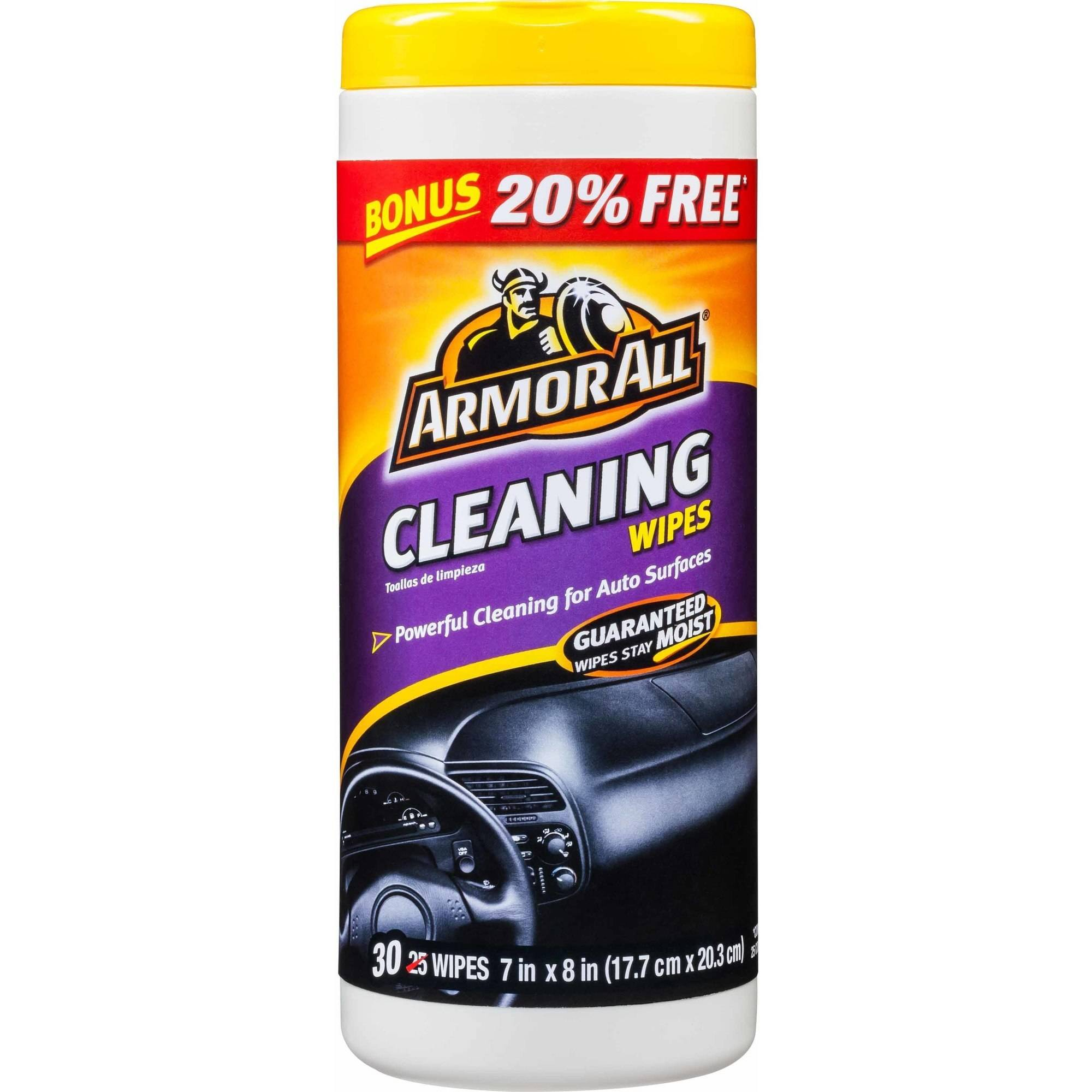 Armor All Cleaning Wipes, 30-Count