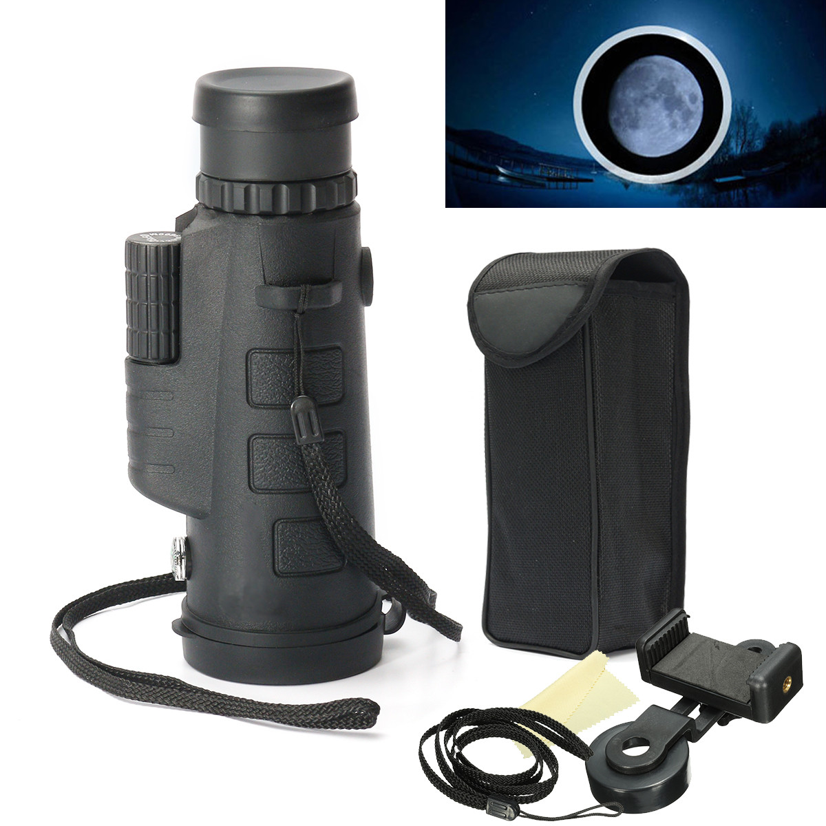35x50 HD Optical Monocular Night Vision Observing Hiking Telescope with Holder by