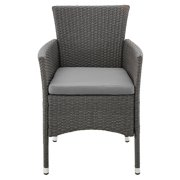 angelo:HOME Rattan Wicker Patio Dining Arm Chair - Set of 2