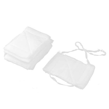 Healthcare Cotton Blends Gauze Coverd Washable Mask White 10 Pcs