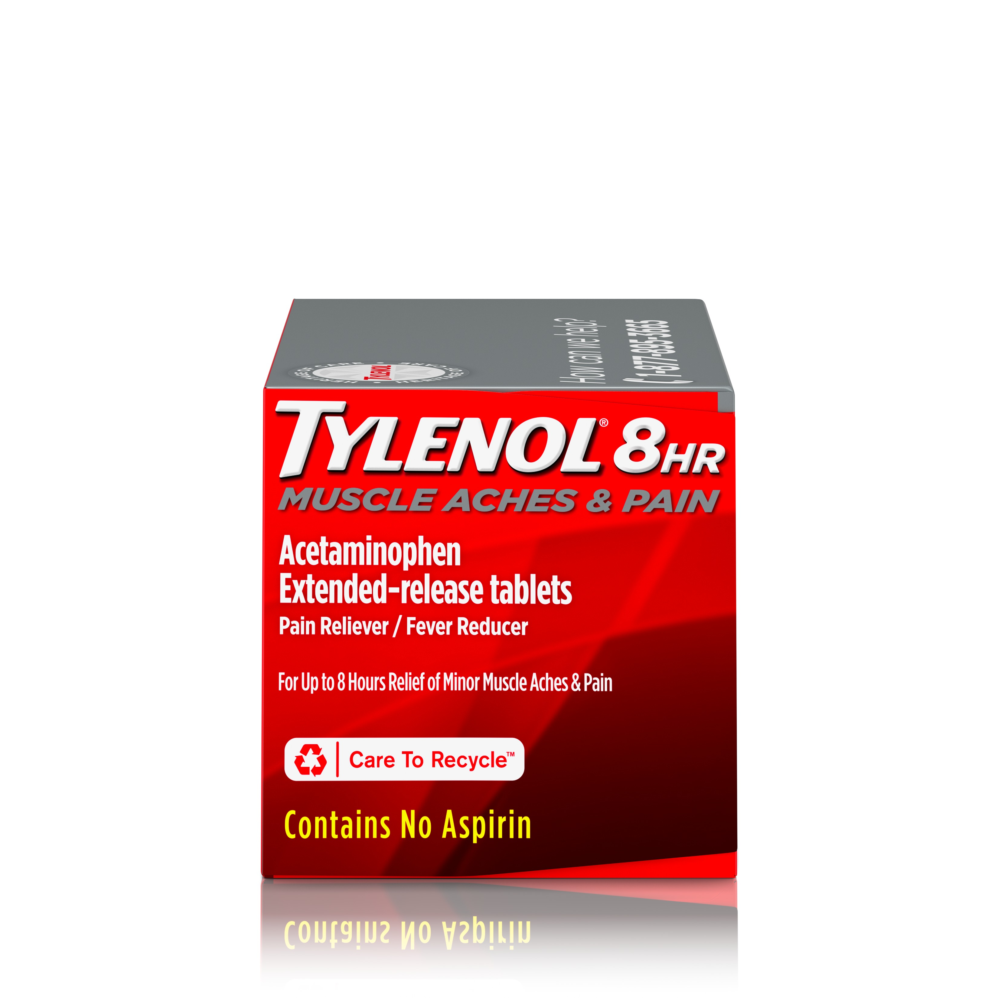 Tylenol 8 Hour Muscle Aches & Pain Tablets with Acetaminophen, 100 ct