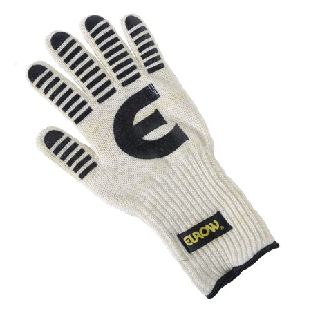 Eurow Heat and Flame Resistant Silicone Oven Glove - 13 (High Heat Resistant Gloves)