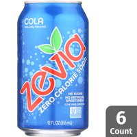 Zevia Zero Calorie Cola, 6 Count