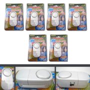 6 PACK WIRELESS DOOR AND WINDOW ENTRY ALARM BATTERY HOME SYSTEM SECUIRTY SWITCH