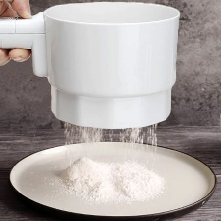 Electric Flour Sieve Strainer 1mm Aperture Battery Operated Sifter Hand-Held Shaker Baking Tool Kitchen Accessories