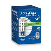 Accu-Chek Aviva Plus Blood Glucose Test Strips - 50 Test Strips per Box