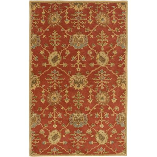 Surya Caesar 2' x 3' Hand Tufted Wool Rug in Red