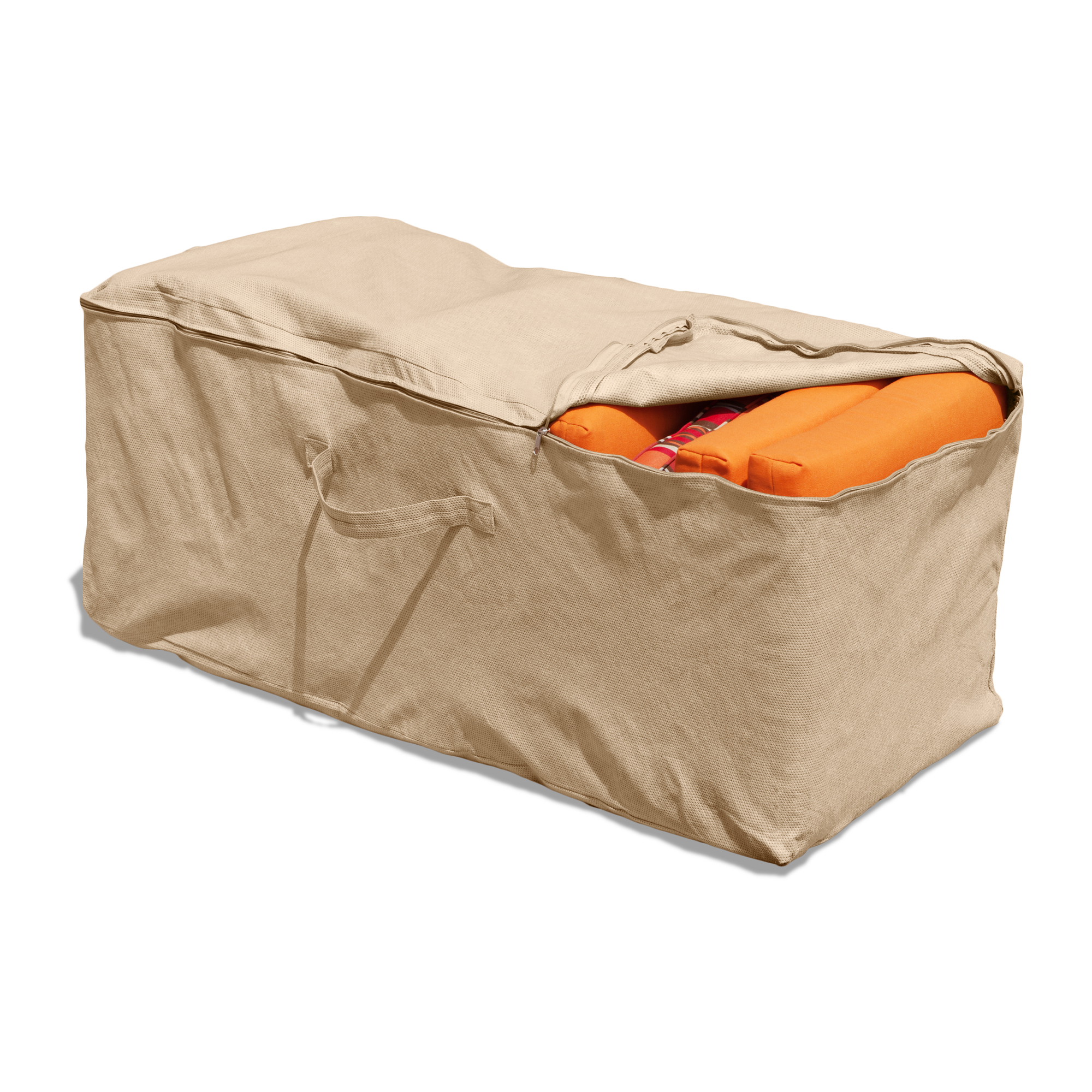 "Budge 19"" H Tan Patio Cushion Storage Bag Cover, NeverWet®"