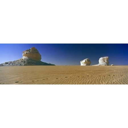 Rock formations in a desert White Desert Farafra Oasis Egypt Canvas Art - Panoramic Images (36 x (White Rock Oasis)