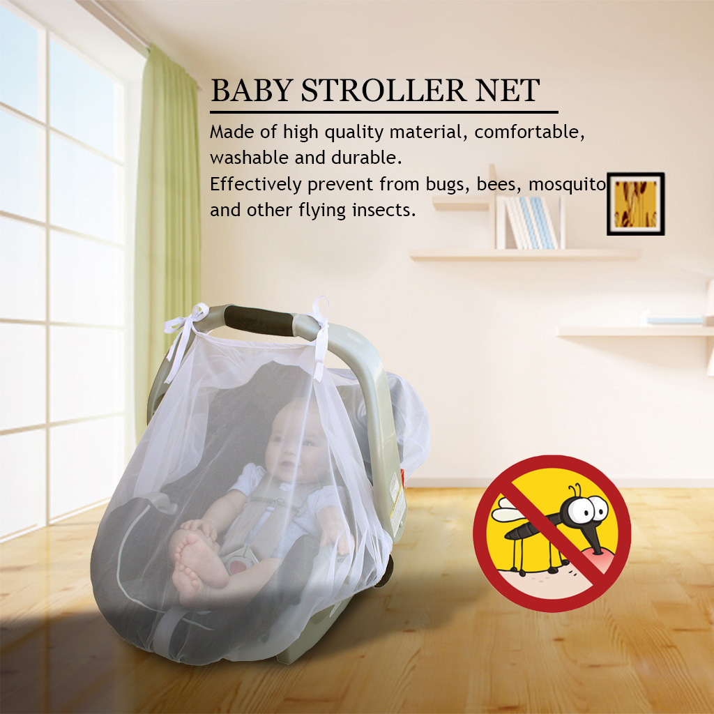 Fosa Ventilated Baby Mosquito Net Infant Carriage Stroller Car Seat Cover Protection Tent, Infant Car Seat Net,Baby Stroller Net