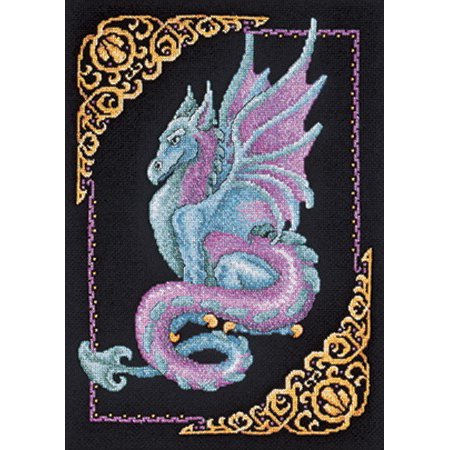 "Mythical Dragon Picture Counted Cross Stitch Kit-11""X15"" 14 Count"