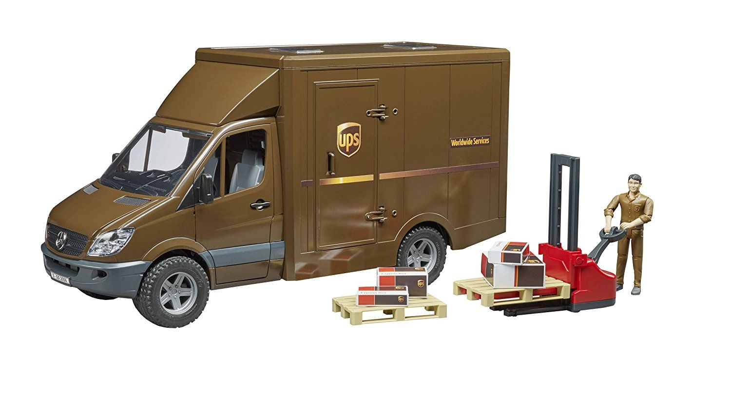 UPS Sprinter with Driver Vehicle Toy by Bruder Trucks (02538) by Bruder Trucks