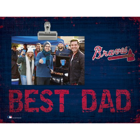 Atlanta Braves 8'' x 10.5'' Best Dad Clip Frame - No