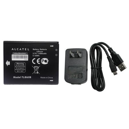Brand NEW Original CAB60BA000C1 Battery for Alcatel One Touch Evolve / Shockwave with Alcatel CBA3000AG0C1 MicroUSB Charger - in Non-Retail