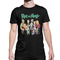 Rick and Morty Cast Men's and Big Men's Graphic T-shirt