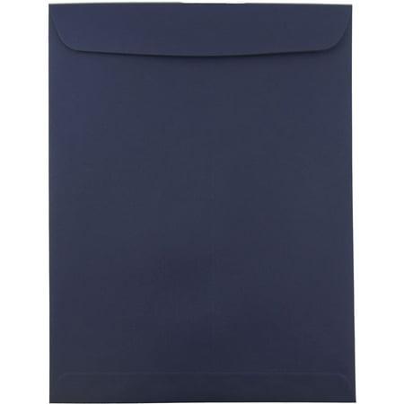 JAM Paper® 10 x 13 Open End Catalog Envelopes with Gum Closure - Navy Blue - (Navy Catalog Number)