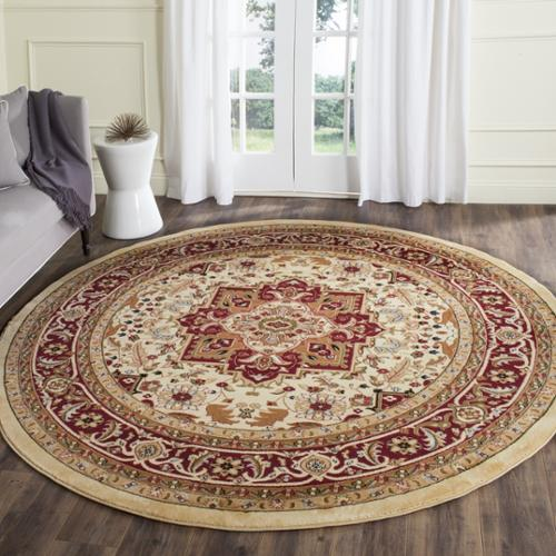 Safavieh Lyndhurst Collection Ivory/ Red Area Rug (8' Round)