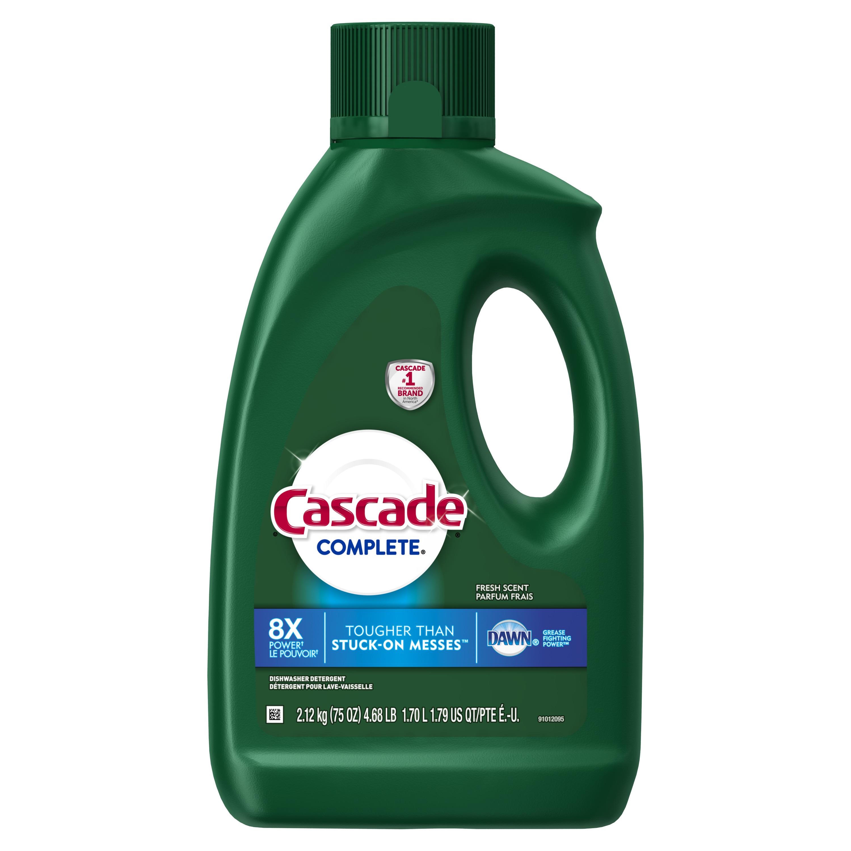 Cascade Complete, Gel Dishwasher Detergent, Fresh, 75 oz