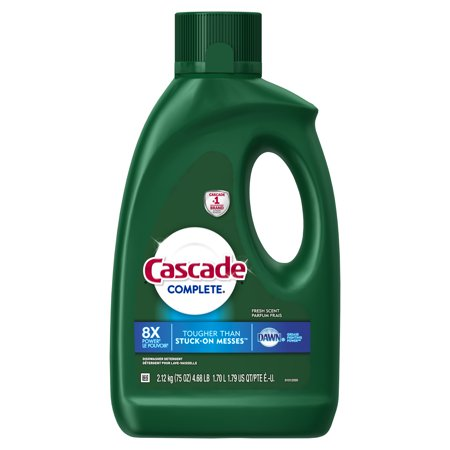 Cascade Complete, Gel Dishwasher Detergent, Fresh, 75