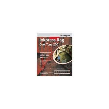Inkpress Rag Warm Tone Inkjet - Inkpress Rag Cool Tone, Double Sided Bright White Matte Cotton Rag Inkjet Paper, 16 mil., 200gsm, 8.5x11