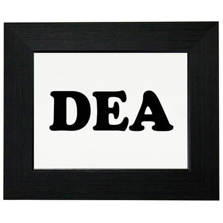 DEA - Large Font Graphic Design Framed Print Poster Wall or Desk Mount Options Font Frames Embroidery Design