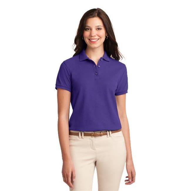 Port Authority® Ladies Silk Touch™ Polo.  L500 Purple 5Xl - image 1 de 1
