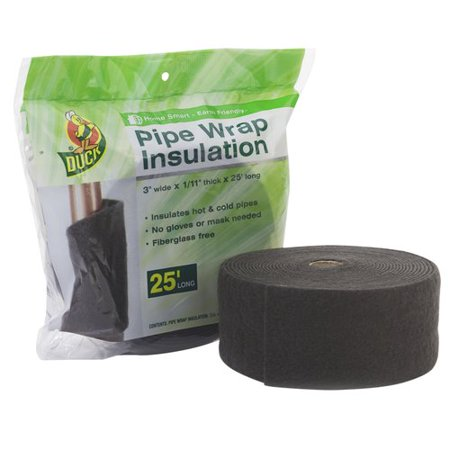 Duck Brand Pipe Wrap Insulation - 3 in. x 1/11 in. x 25 ft.
