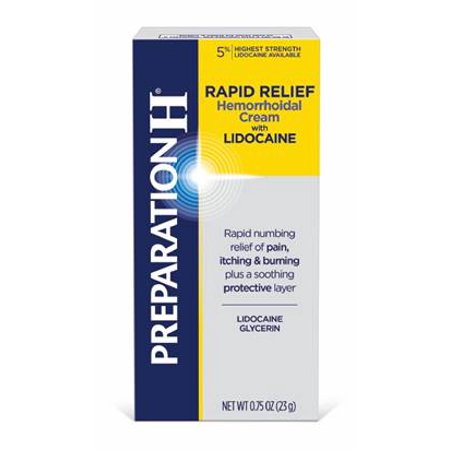 - Preparation H Rapid Relief with Lidocaine Hemorrhoid Symptom Treatment Cream, Tube (0.75 Ounce)