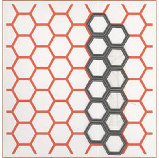 """Chicken Wire; 1.25""""X4.375"""" - Marianne Design 5""""X5"""" Embossing Folder & Die"""