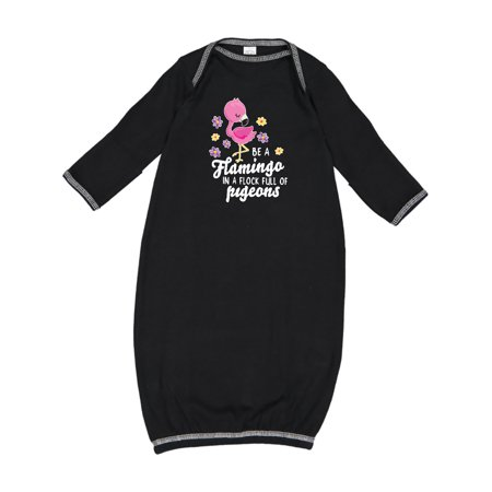 Be a Flamingo in a Flock of Pigeons with Flowers Newborn Layette