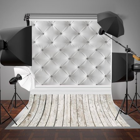 GreenDecor Polyster 5x7ft Photographic Backgrounds Gray Photography Backdrops Bedroom Headboard Photo Studio Backdrop for Baby Shower Background - Baby Shower Backdrops