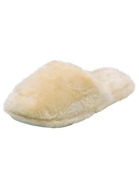 LAVRA Women's Furry Slide Slip On Slippers