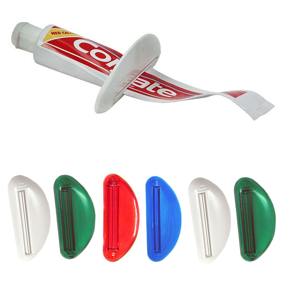 6 x Toothpaste Squeezer Tube Easy Dispenser Plastic Rolling Holders Bathroom New
