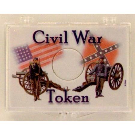 - Civil War Soldiers - Token 2X3 Coin Snap Lock Holders