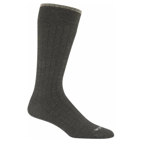 Wigwam Men's Merino Black Wool XL Socks Brown Color Block Merino Wool