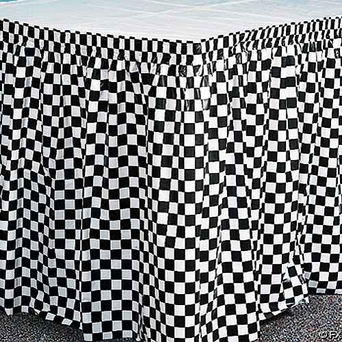 Plastic Table Skirt, Checkered