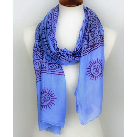 OMSutra OM Mantra Prayer Shawl - Large Blue