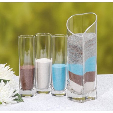 Victoria Lynn Sand Unity Ceremony Set - Glass - 4 pieces - Sand Ceremony Script