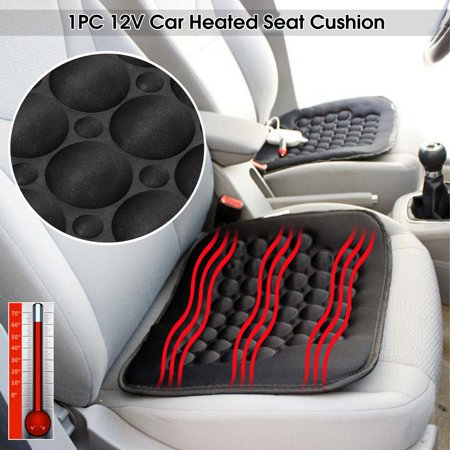 12V 30W Car Front Seat Heated Cushion Hot Cover Warmer Pad for Auto SUV Truck Cold Weather and Winter Driving, (Best Steering Wheel Cover For Cold Weather)