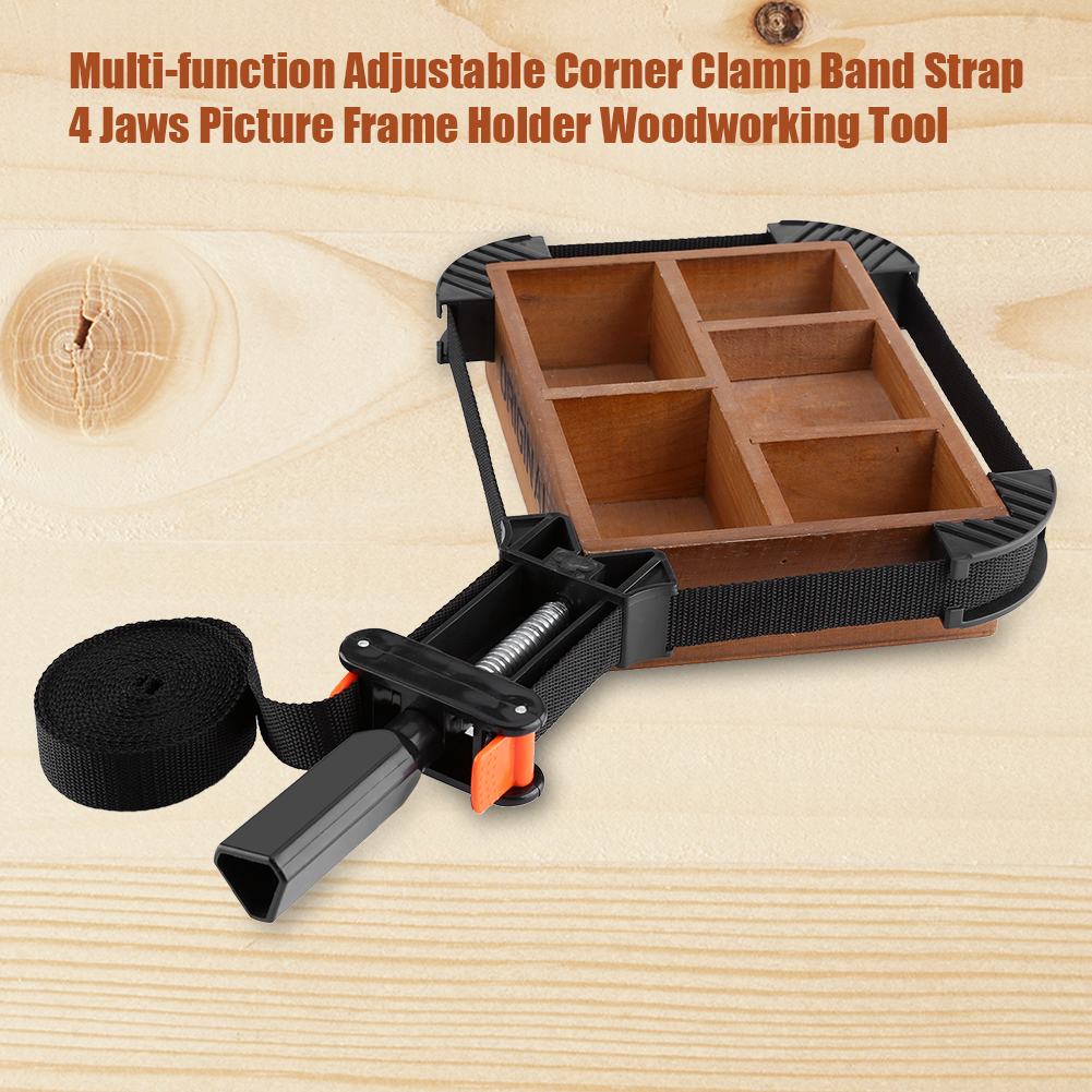 Adjustable Rapid Corner Clamp Strap Band 4 Jaws Corner Clamps for Woodworking Photo Frame Tools Woodworking Band Clamp Nylon