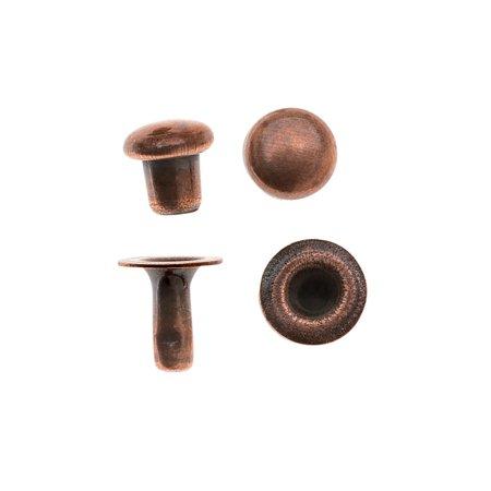TierraCast Double Round Cap Compression Rivets 4mm, 10 Sets, Antiqued Copper
