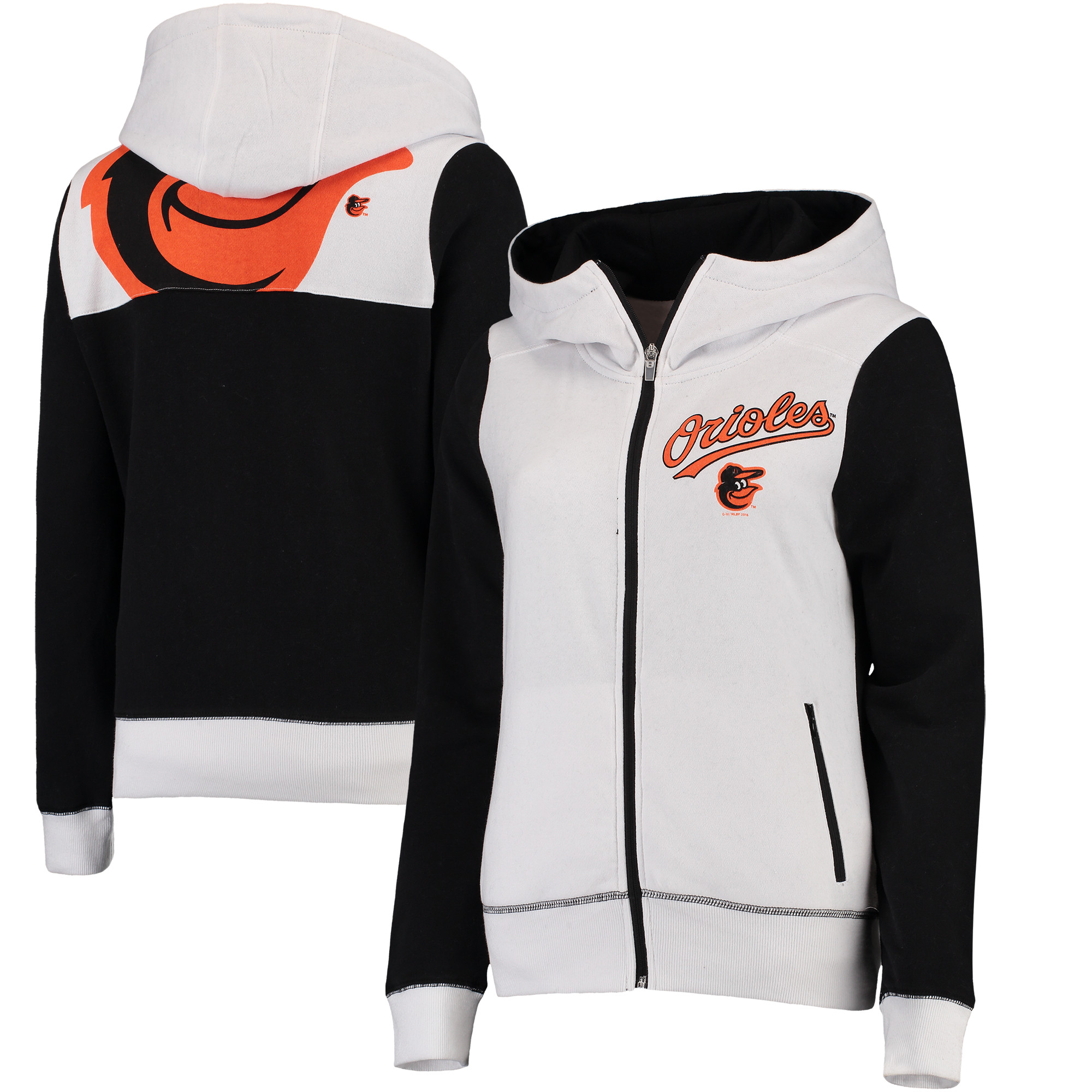 Baltimore Orioles G-III 4Her by Carl Banks Women's Franchise Full-Zip Hoodie - White