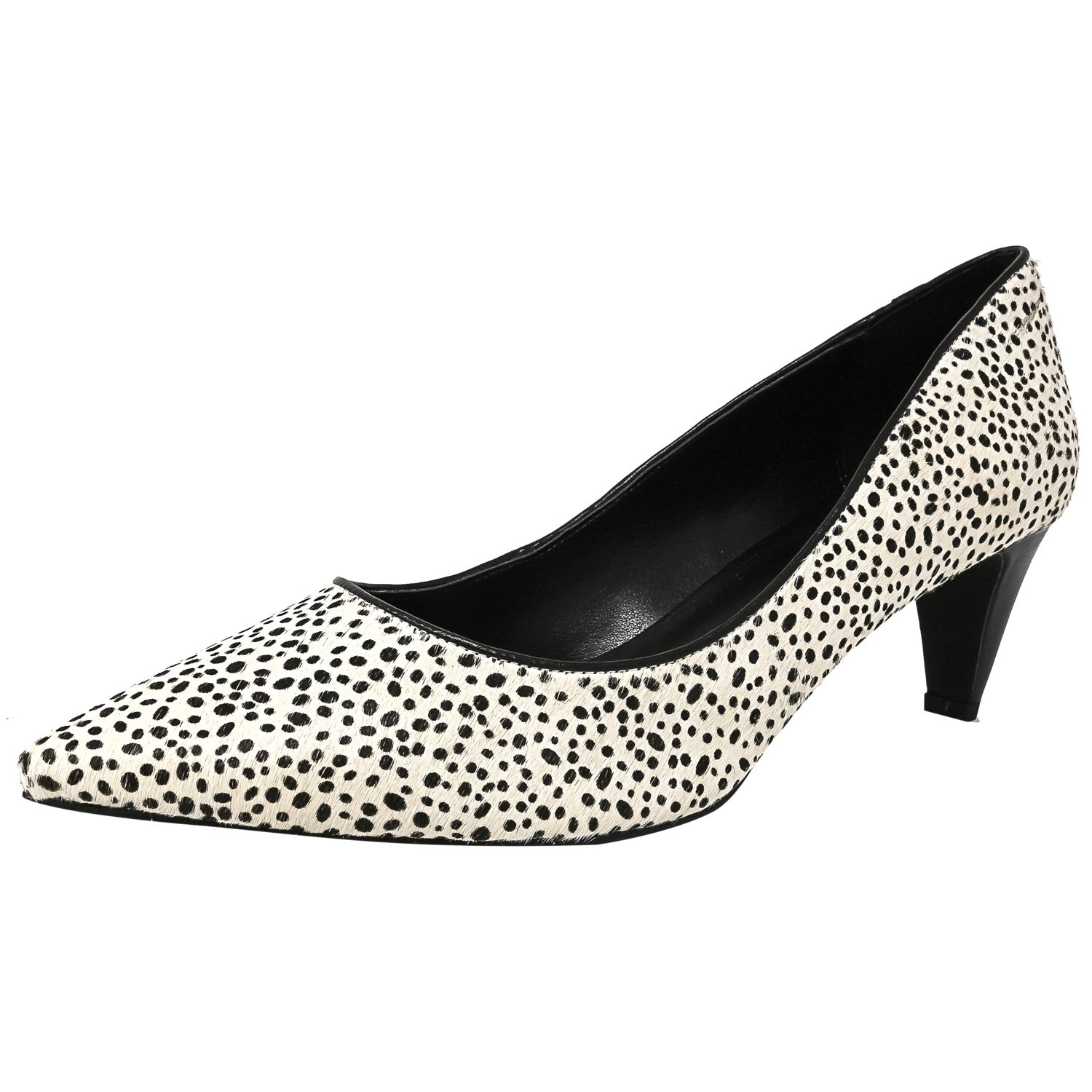 Lori Goldstein Women's Joan Dalmation Ankle-High Leather Pump - 9.5M