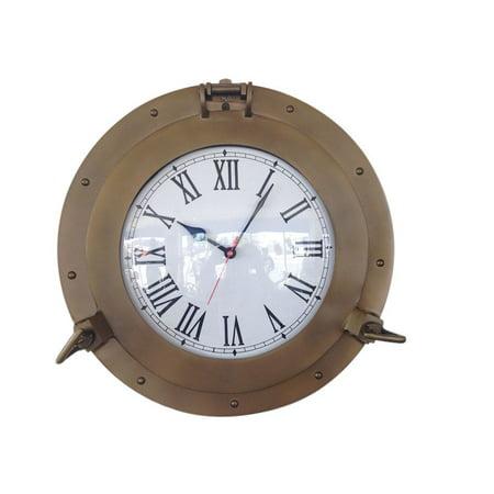 Ship Porthole (Antique Brass Decorative Ship Porthole Clock 15
