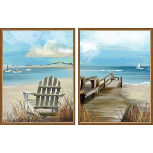 Coastal Scene, Set of 2