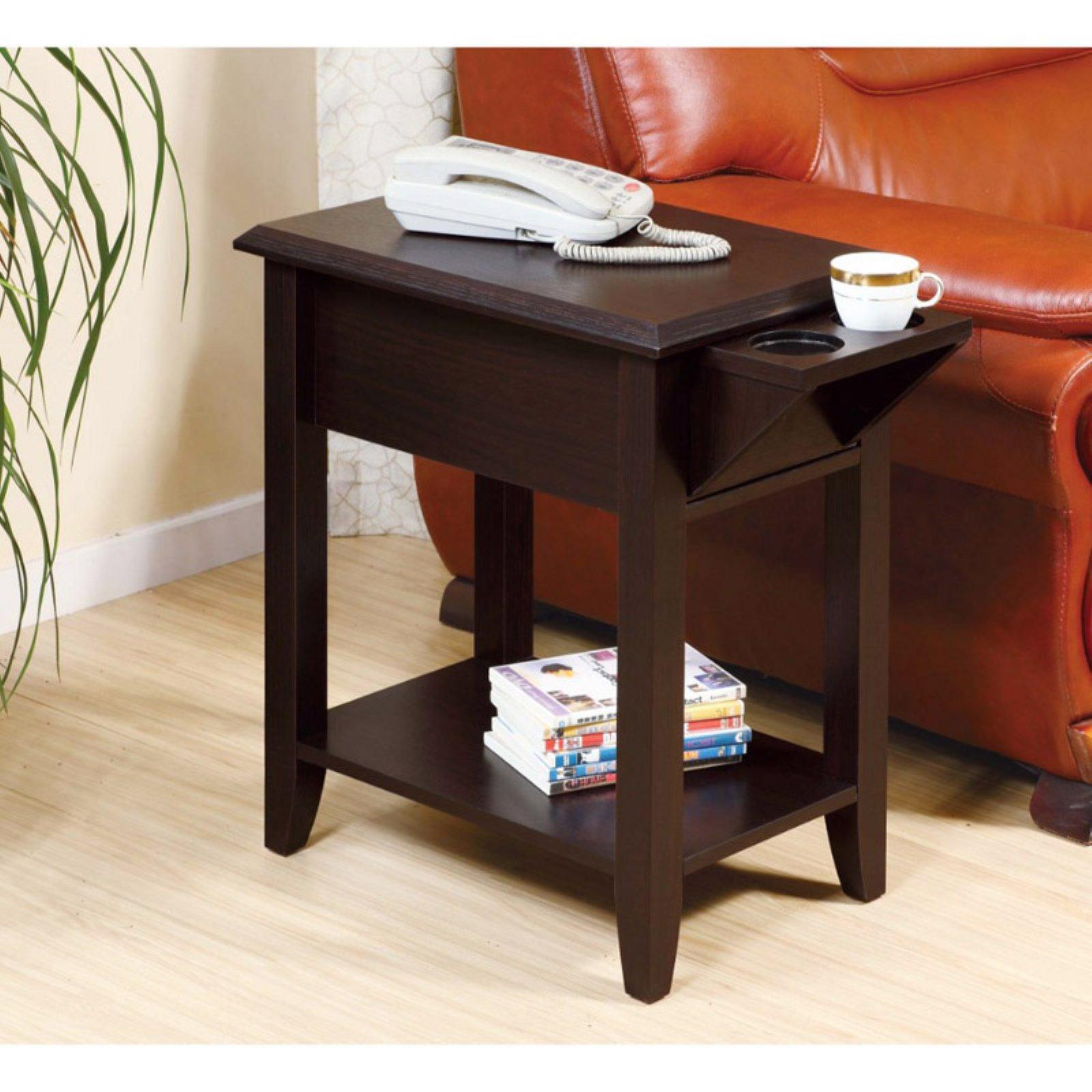 Benzara Bm179686 Wooden Chairside Table