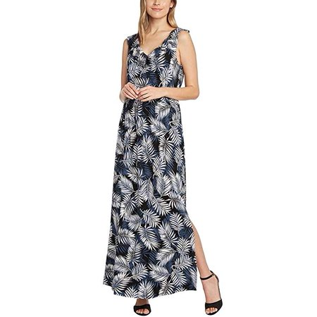 Matty M Ladies' Ruffle Front Maxi Dress, XL - Black- NEW
