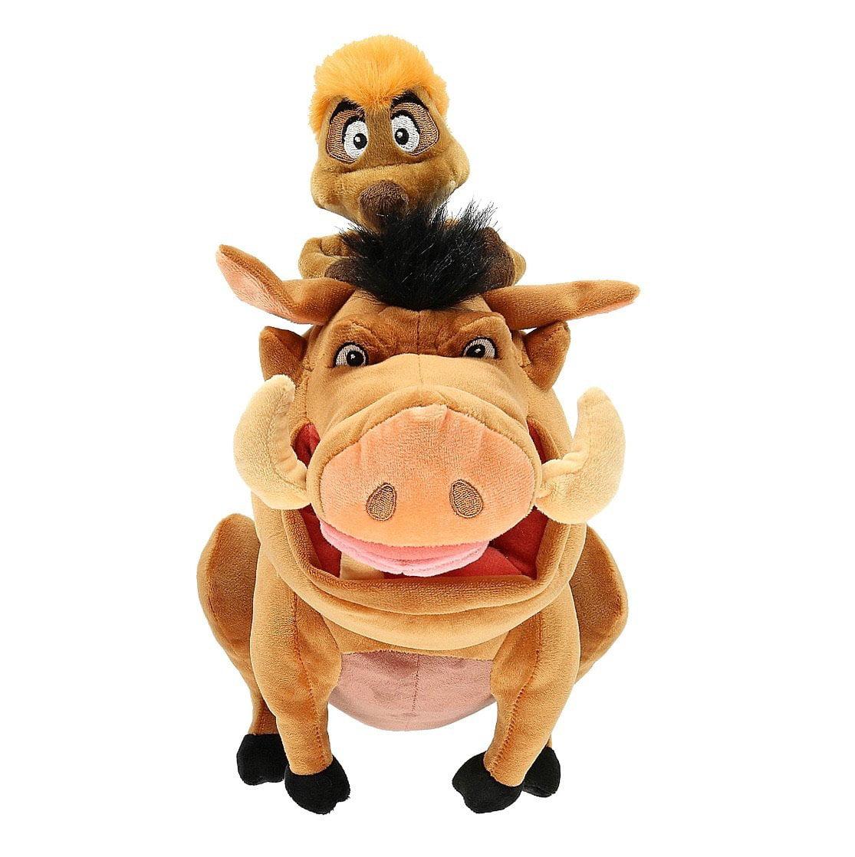 "Disney Parks Lion King Timon & Pumbaa 15"" Plush New with Tags"