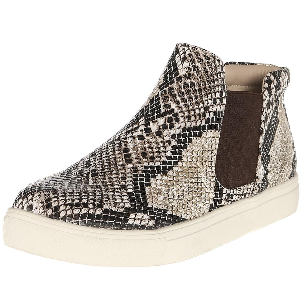 harlan fashion sneaker, natural snake