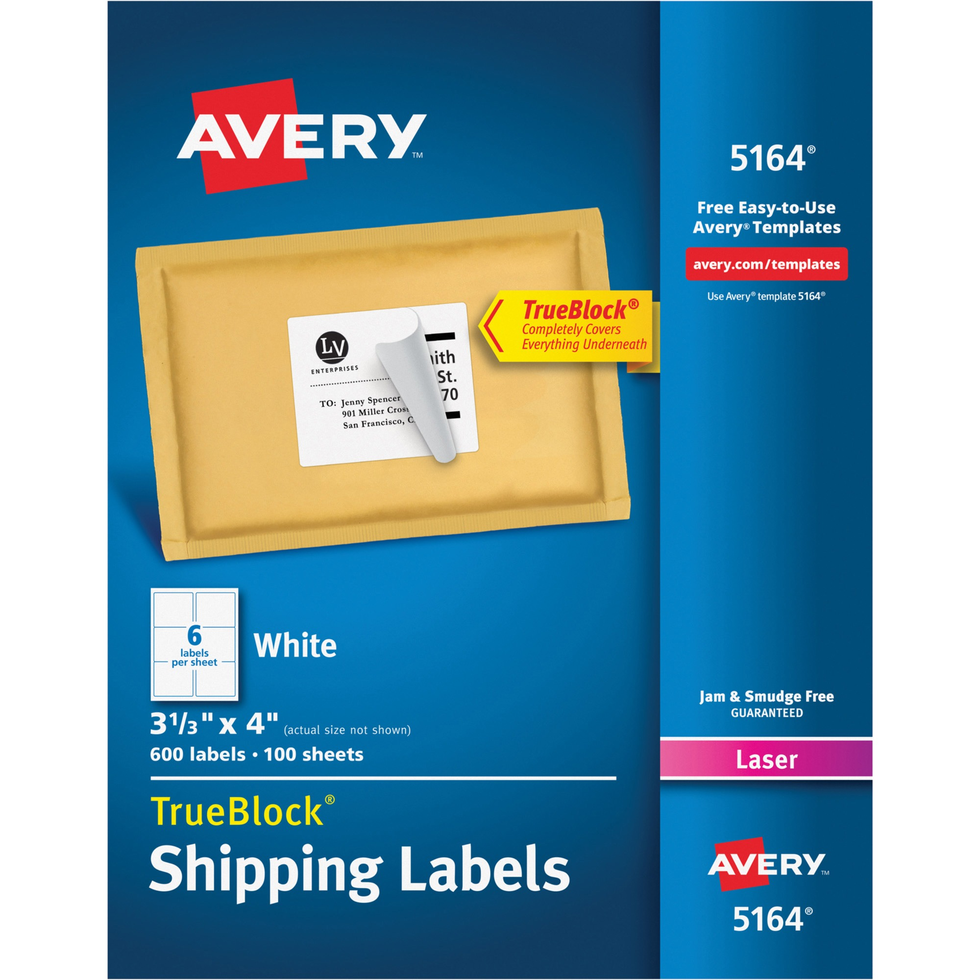 shipping labels 5164